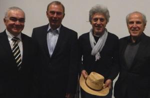 (v.l.) Dottore Gabriele Galipo, Bürgermeister Werner Kolter, Carlo D'Addetta und Axel Sedlack.