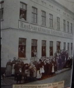 Eine Restauration als Vorgänger des Kolpinghauses, hier ein Bild von 1908