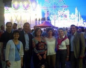 """30 Jahre """"Un(n)a festa italiana"""" - zum größten Lichterfest nördlich der Alpen kam natürlich auch eine Delegation aus Unnas Partnerstadt Pisa. (Foto: Simone Melenk)"""